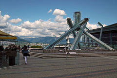2010 Winter Olympics Torch, Vancouver BC Canada Stock Photography