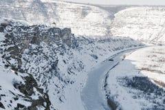 Winter Orhei Vechi cave monastery Stock Image