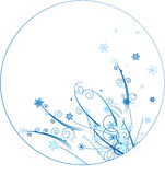Winter ornament circle design Royalty Free Stock Image