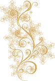 Winter ornament with snowflakes Royalty Free Stock Photography
