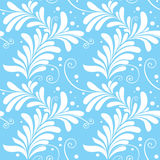 Winter ornamental floral seamless pattern Royalty Free Stock Photos
