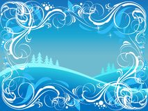 Winter ornate background Stock Photo