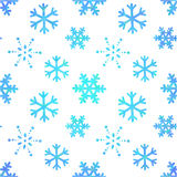 Winter ornate snowflakes decorative seamless pattern Stock Images