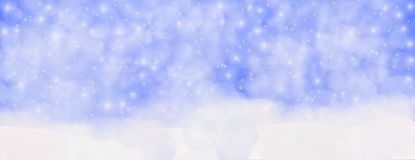Winter outdoor with falling snowflakes, Panoramic web banner hor stock photos