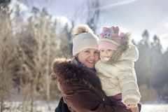 Little girl and mother Stock Image