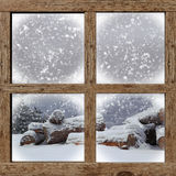 Winter outdoors view Royalty Free Stock Images