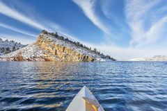 Winter paddling in Colorado Stock Photography