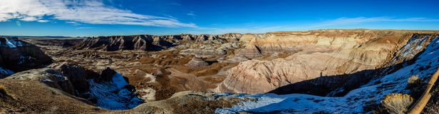 Winter Painted Desert in Arizona stock photo