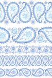 Winter Paisley seamless border set Royalty Free Stock Images