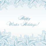 Winter Paisley Seamless Pattern Royalty Free Stock Photography