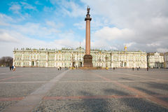 Winter Palace. From the 1760s onwards the Winter Palace was the main residence of the Russian Tsars. Many visitors also know it as the main building of the Royalty Free Stock Image