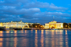 Winter palace and the Admiralty, St Petersburg, Russia Stock Image
