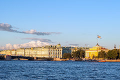 Winter palace and the Admiralty, St Petersburg, Russia Royalty Free Stock Image