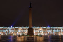 Winter Palace and Alexander Column Stock Images