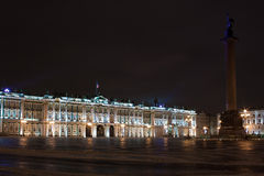 Winter Palace and Alexander Column, Russia Royalty Free Stock Images