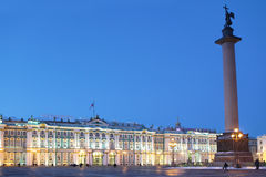 Winter Palace and Alexander Column in St. Petersburg Royalty Free Stock Photo