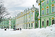 Winter palace. Courtyard Royalty Free Stock Photos