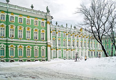Winter palace. Courtyard Royalty Free Stock Photo