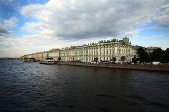 Winter Palace. Ermitage Museum in Winter Palace, the Zar house in San Petersburg, Russia Stock Photos