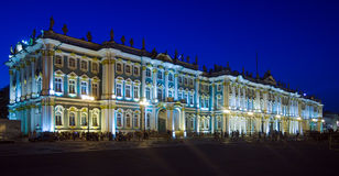 Winter Palace at Evening, Saint Petersburg Stock Photo