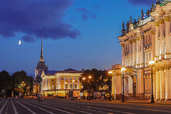 Winter Palace (Hermitage Museum) and the Admiralty in Saint Pete Royalty Free Stock Photography
