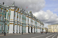 Winter Palace, Hermitage museum in St.Petersburg. The central square in the heart of Saint-Petersburg, Russia: the Winter Palace square, in front of the Stock Images