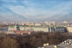 The Winter Palace. Hermitage Museum. St. Petersburg, Russia. St. Petersburg city from the colonnade of St. Isaac's. Russia. The Winter Palace. Hermitage Museum Stock Photos
