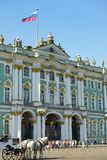 Winter Palace and Hermitage in Saint Petersburg, Russia Stock Images