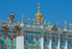 Winter Palace, Saint Petersburg. Winter Palace and lantern, Saint Petersburg Royalty Free Stock Photos