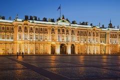 The winter Palace at night illumination at white night. St. Petersburg Stock Photo