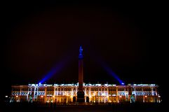 Winter Palace at night stock photography