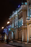 Winter Palace at night, St. Petersburg, Russia Stock Photo