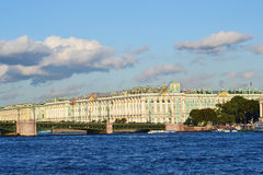 The Winter Palace and The Palace Bridge Royalty Free Stock Photos