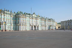 Winter Palace and Palace square, july morning. Saint Petersburg Stock Photo