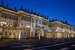 The Winter Palace on Palace Square in St. Petersburg Royalty Free Stock Images