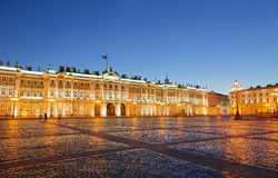 The Winter Palace on Palace Square Royalty Free Stock Photos
