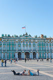 Winter Palace and Palace Square, St.Petersburg Stock Photos