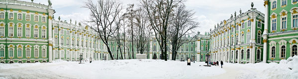 Winter palace. Panorama. Courtyard Royalty Free Stock Photography