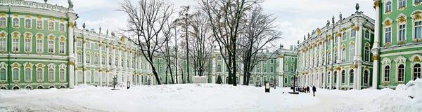 Winter palace. Panorama. Courtyard Royalty Free Stock Photography