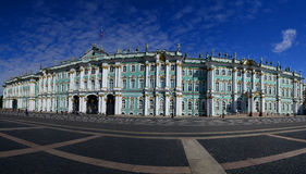 The Winter Palace. Panorama of the Winter Palace and Palace Square (Russia, Saint-Petersburg Royalty Free Stock Image