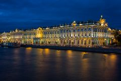 Winter Palace in Saint Petersburg Stock Photography