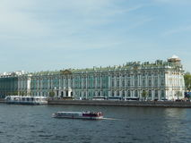 The winter Palace. Saint-Petersburg. Russia. The building of the Winter Palace (Hermitage) on the Palace embankment of the Neva river in St. Petersburg in Russia Royalty Free Stock Photo