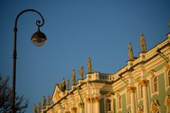 The Winter Palace, Saint Petersburg, Russia. Hermitage Museum. Royalty Free Stock Images