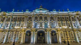Winter Palace in Saint Petersburg timelapse hyperlapse. Official residence of the Russian monarchs from 1732 to 1917. Palace square stock video footage