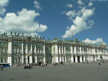 Winter palace square Royalty Free Stock Images
