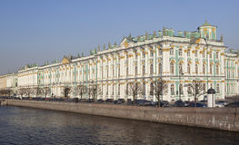 Winter Palace, in St Petersburg. Stock Photos