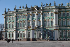 Winter Palace  in St. Petersburg Royalty Free Stock Images