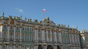 Winter Palace in St. Petersburg stock footage