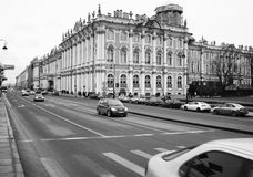Winter Palace in St. Petersburg Stock Photos