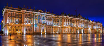 The Winter Palace in St. Petersburg, Russia Royalty Free Stock Photos